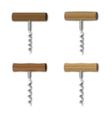 Set corkscrew vector image