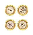 Set of golden compasses vector image