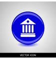 University Icon Isolated on blue Background vector image