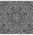 Seamless floral pattern of circular ornaments vector image