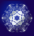 mandala amulet esoteric silver symbol on a blue vector image