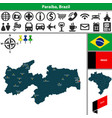 map of paraiba brazil vector image