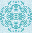 circular turquoise and beige ornament vector image