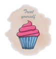 Hand drawn muffins background vector image