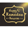 Ramadan kareem typographic design vector image
