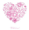 with love heart vector image vector image