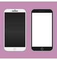black and white phones vector image