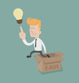 Businessman thinking outside the box vector image