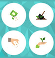 flat icon seed set of care packet soil and other vector image
