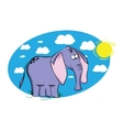 Funny cartoon elephant vector image