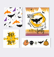 halloween paper notes scrapbooking elements vector image