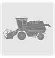 icon with farm combine vector image