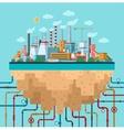 Industrial landscape conceptual background vector image