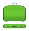 Realistic suitcase on white background vector image