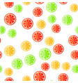 sliced fruit on a white background vector image