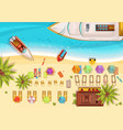 beach holiday top view vector image vector image