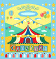 carnival poster vector image