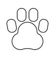 Animal footprint black color icon vector image