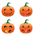 Set of pumpkins for halloween vector image