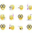 Set of emoticons for students vector image vector image