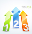 3d numbered arrows vector image