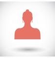 Female avatar single icon vector image vector image