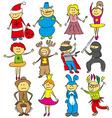 kids at Christmas vector image vector image