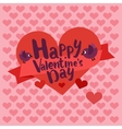 Happy valentines day card lettering with heart vector image