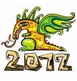 dragon emblem vector image vector image