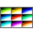 Abstract wavy background design vector image