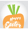 Happe easter holiday greeting card vector image