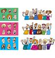 happy people set vector image