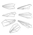 isolated paper planes vector image