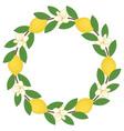 Lemon Wreath vector image