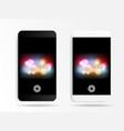 smartphone in caremr mode application vector image