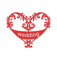 heart for wedding vector image
