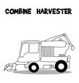 Combine harvester art vector image
