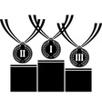 pedestal with medals vector image