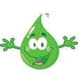 Water droplett cartoon vector image vector image