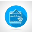 Round flat icon for ornate wallet vector image