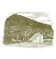 Woodcut Idaho Barn vector image vector image