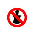 Stop tricks Ban to do magic tricks Frozen cylinder vector image vector image