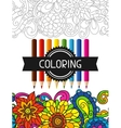 Adult coloring book design for cover vector image vector image