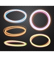 Set of glowing transparent circles Light effects vector image vector image