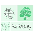 Happy St Patricks day lettering vector image