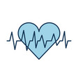 medical heart beat cardiology diagnossis vector image