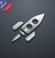 Rocket icon symbol 3D style Trendy modern design vector image