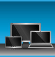 set of blank screens computer monitor laptop vector image