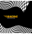 Racing background with race flag sport design vector image