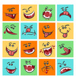 colorful emoticon faces  cute vector image